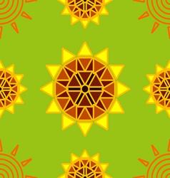 Seamless sun flower abstract background vector