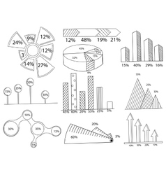 Set of infographics coloring vector