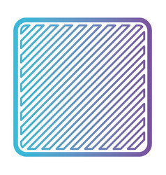 square shape emblem in color gradient silhouette vector image vector image
