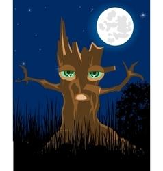 Terrible stump in the night vector