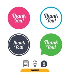 Thank you sign icon Customer service symbol vector image vector image