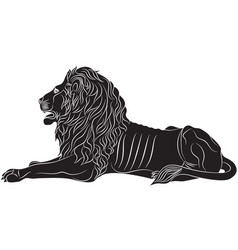 The couchant lion - the heraldic symbol vector