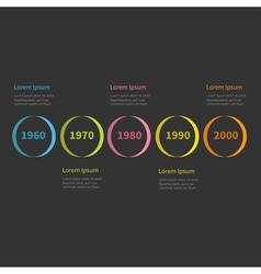 Timeline infographic colorful circles and text vector