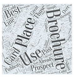 Ways to distribute your brochures word cloud vector