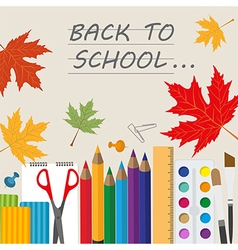 Back to school stationary graphic template vector