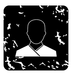 Monk icon grunge style vector image