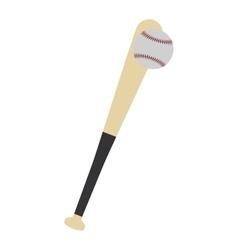 Baseball bat ball play icon graphic vector