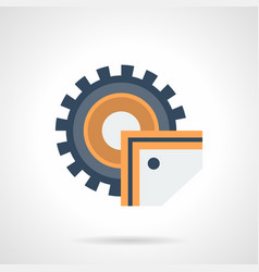 Industrial saw flat color icon vector