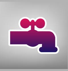 Water faucet sign purple vector