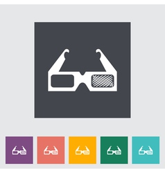 3d glasses vector