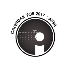 2017 calendar design stationery template vector image vector image