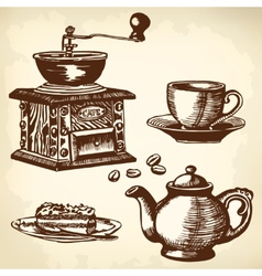 Caffe set vector