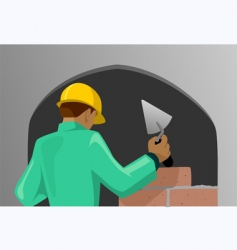 Man working in the site vector