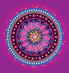 Flower pattern mandala vector image
