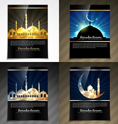 Attractive brochure of eid festival vector