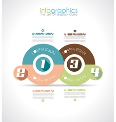 Infographic design template with modern flat style vector