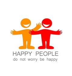 happy people template vector image