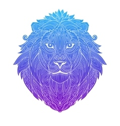 Lion gradient ornament ethnic vector