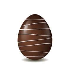 Chocolate egg isolated on white background vector
