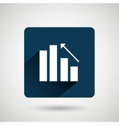 Statistics icon design vector