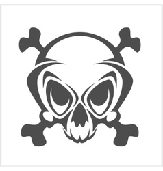 Pirate emblem - jolly roger skull and cross vector