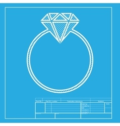 Diamond sign  white section of icon vector