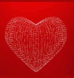 Abstract mesh heart background vector