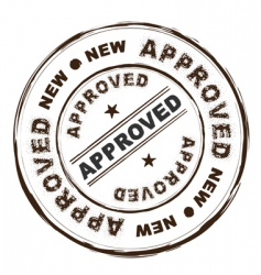 approved ink stamp vector image