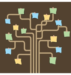 blank paper note graph tree vector image
