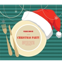 christmas party invitation vector image vector image