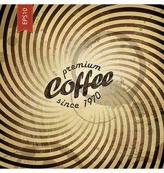 coffee grunge retro background vector image vector image