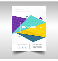 Colorful abstract brochure report flyer magazine vector