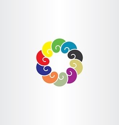 colorful abstract circle logo company icon vector image