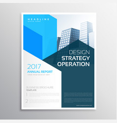 Company annual report brochure teamplate vector