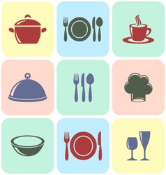 Cooking and restaurant menu icons vector image vector image