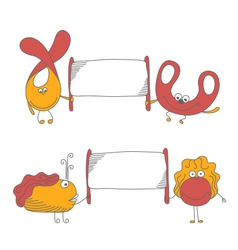 Cute characters vector image vector image