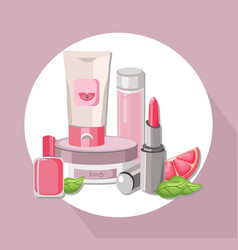 eco cosmetics set package hydration cream vector image vector image