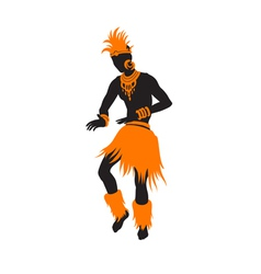 Ethnic dance african man vector image