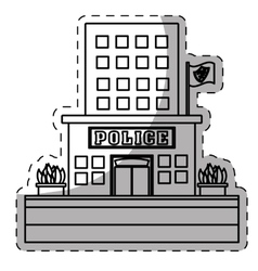 Figure police station icon image vector