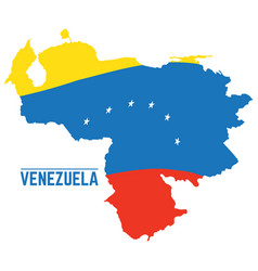 flag and map of venezuela vector image vector image