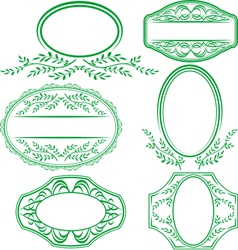 frames with leaves and ornaments vector image vector image