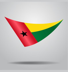 Guinea-bissau flag background vector