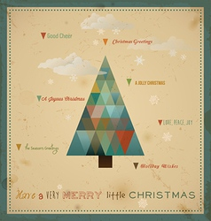 Have A Very Merry Little Christmas vector image vector image