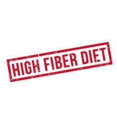 High fiber diet rubber stamp vector