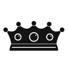 Jewelry crown icon simple style vector