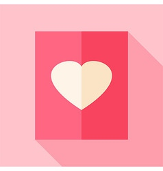 Love paper with heart vector image vector image