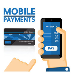 Mobile payments vector image vector image