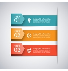 Modern arrow template for business infographics vector image vector image