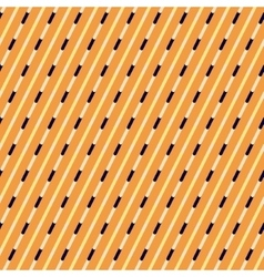 Orange and blue diagonal stripes pattern vector image vector image