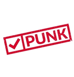 Punk rubber stamp vector image